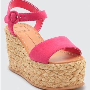 Dolce Vita Dane Suede Platform Wedge Sandals